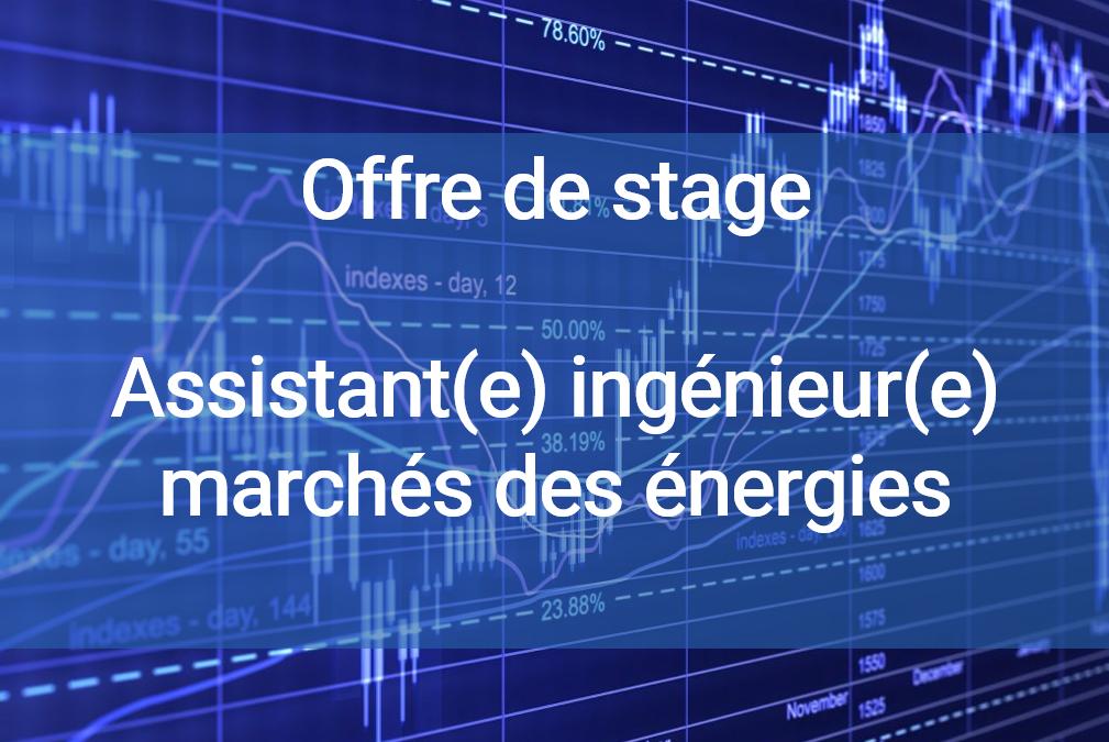 Offre de stage Assistant ingénieur marchés des énergies (H/F)