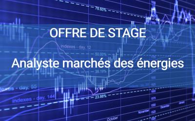 Offre de stage analyste des marchés